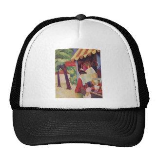 August Macke - Vor dem Hutladen 1913 Oil Trucker Hat