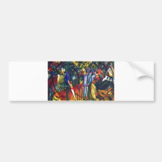 August Macke - Zoo Garden 1912 Oil on Canvas Bumper Sticker