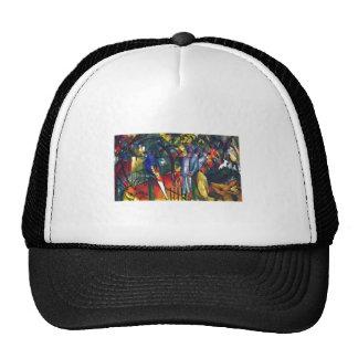 August Macke - Zoo Garden 1912 Oil on Canvas Trucker Hat