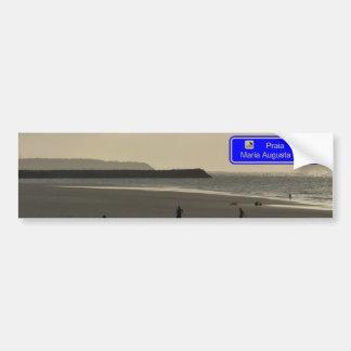 August Maria beach Leite Bumper Sticker
