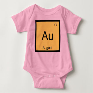 August Name Chemistry Element Periodic Table Baby Bodysuit