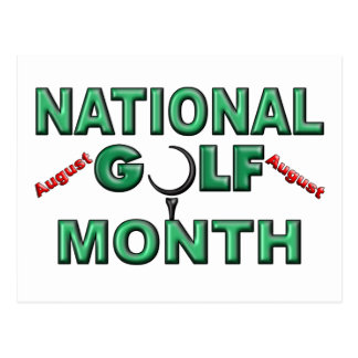August - National Golf Month Postcard