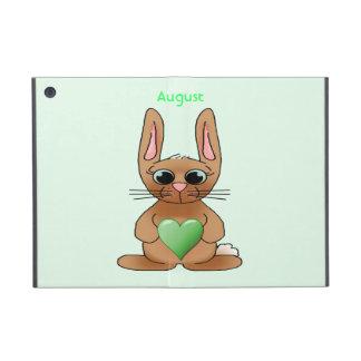 August Rabbit Birthstone Peridot iPad Mini Case