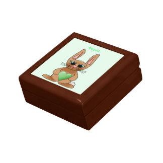 August Rabbit Birthstone Peridot Jewelry Box