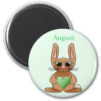 August Rabbit Birthstone Peridot Refrigerator Magnets