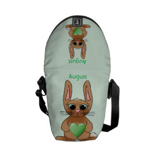August Rabbit Birthstone Peridot Courier Bags