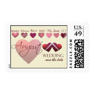 August save the date postage stamp