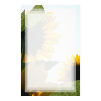 August Sunflowers Stationery