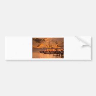 August Sunset Bumper Sticker