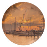 August Sunset Dinner Plate
