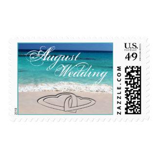 August Sweethearts Tropical Wedding Postage
