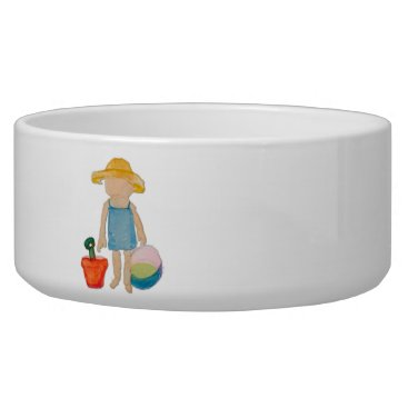Beach Themed August Toddler on Summer Beach Holiday Baby Girl Bowl