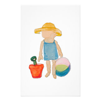 August Toddler on Summer Beach Holiday Baby Girl Flyer