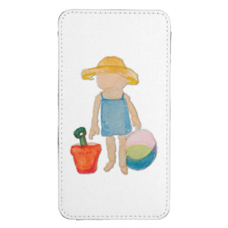August Toddler on Summer Beach Holiday Baby Girl Galaxy S4 Pouch
