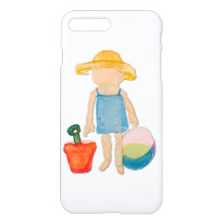 August Toddler on Summer Beach Holiday Baby Girl iPhone 7 Plus Case