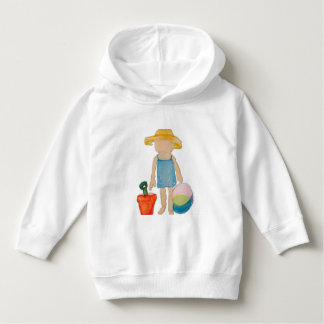 August Toddler on Summer Beach Holiday Baby Girl Toddler Hoodie