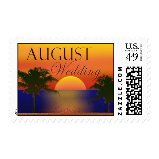 August tropical beach postage
