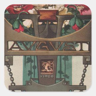 August - Virgo Square Sticker