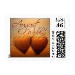 August Wedding Hearts Postage