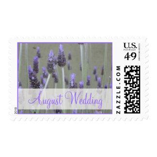August Wedding lavender flowers Postage