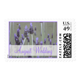 August Wedding lavender flowers Stamps