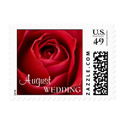 August Wedding Postage