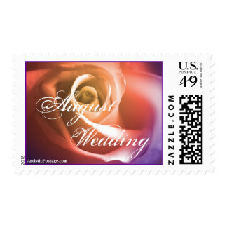August Wedding Rose Postage Stamp