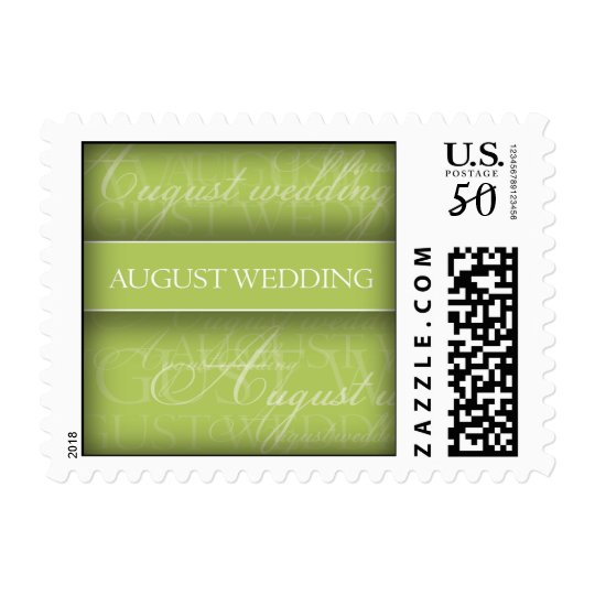 August Wedding Stamp