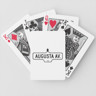 Augusta Avenue, Toronto Street Sign Playing Cards