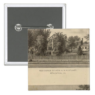 Augusta Church Stuart residence 2 Inch Square Button