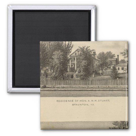 Augusta Church Stuart residence Magnet