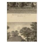 Augusta Church Stuart residence Postcard