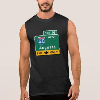 Augusta, GA Road Sign Sleeveless Tee