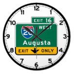Augusta, GA Road Sign Wallclocks