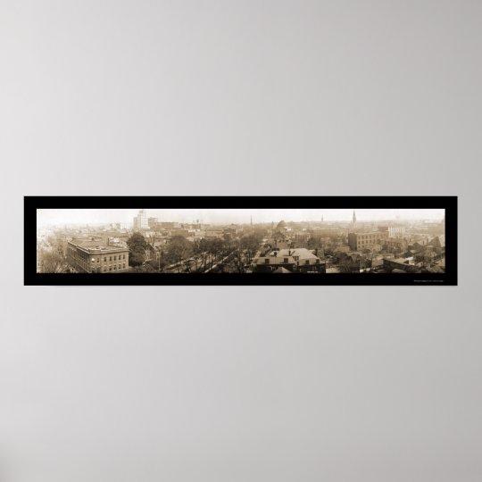 Augusta, GA Skyline Photo 1918  Poster