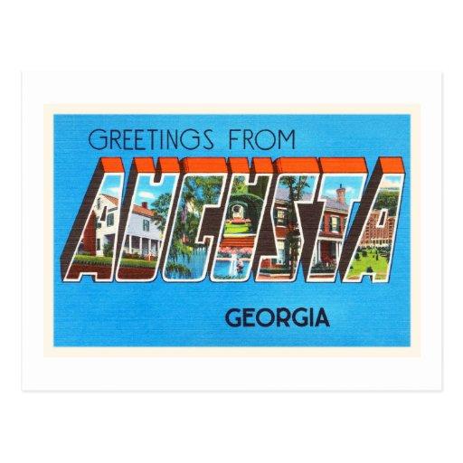 Augusta georgia ga old vintage travel postcard postcard zazzle