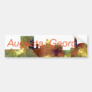 Augusta Georgia Skyline. SG-Safari Buff Bumper Sticker