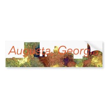 Professional Business Augusta Georgia Skyline. SG-Safari Buff Bumper Sticker