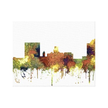 USA Themed Augusta Georgia Skyline. SG-Safari Buff Canvas Print