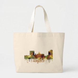 Augusta Georgia Skyline. SG-Safari Buff Large Tote Bag