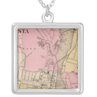 Augusta, Kennebec County Silver Plated Necklace