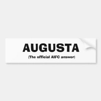 Augusta the Bumper Sticker