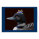 Augusta the loon greeting card