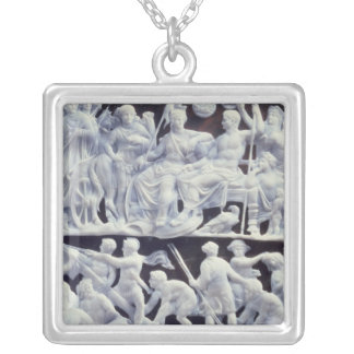Augustan cameo, after 10 AD Square Pendant Necklace