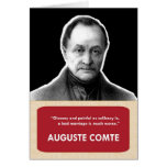 Auguste Comte Anti-Valentine's Day Card