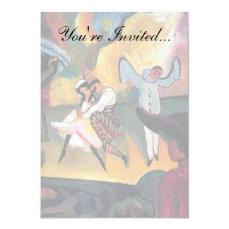 """Auguste Macke - ballet ruso Invitación 5"""" X 7"""""""