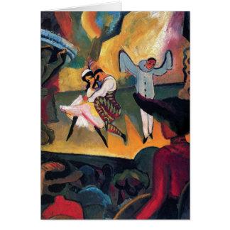 Auguste Macke - ballet ruso Tarjeta De Felicitación
