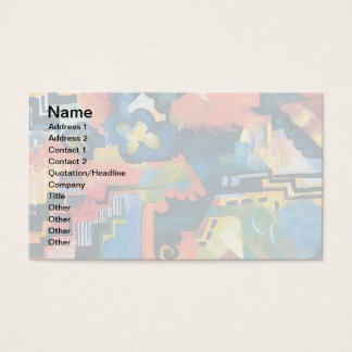 Auguste Macke - Homage To Bach Abstract Modern Art Business Card