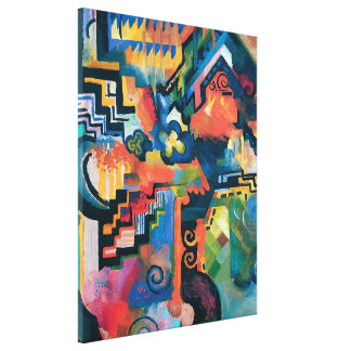 Auguste Macke - Homage To Bach Abstract Modern Art Canvas Print