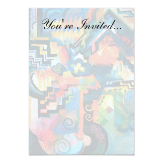 Auguste Macke - Homage To Bach Abstract Modern Art Card
